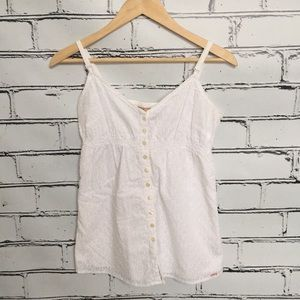 Gap Button Up White Top, Size 2